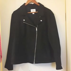 Old navy faux suade moto jacket